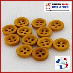 Lots 12 minis boutons 9mm 4...